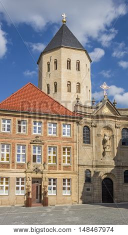 Gaukirche Church At The Central Market Square Of Paderborn