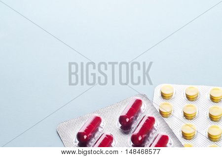 Pills And Capsules In A Blister