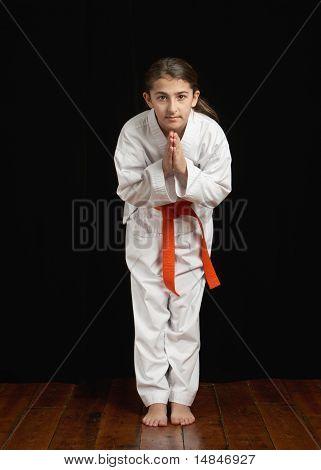 Karate student