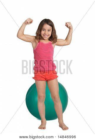 Healthy little girl