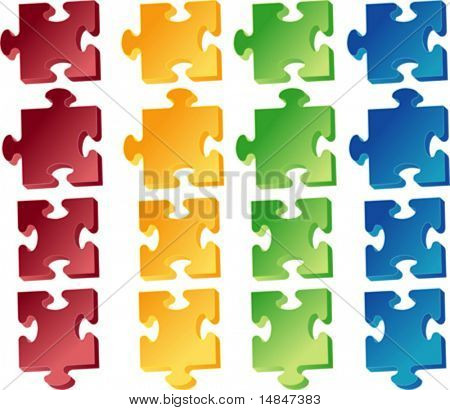 Jigaw,puzzle pieces, vector clipart