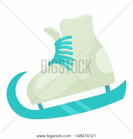 Figure skate icon in cartoon style isolated on white background vector illustration