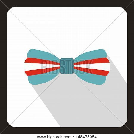 Bow tie icon in flat style on a white background vector illustration