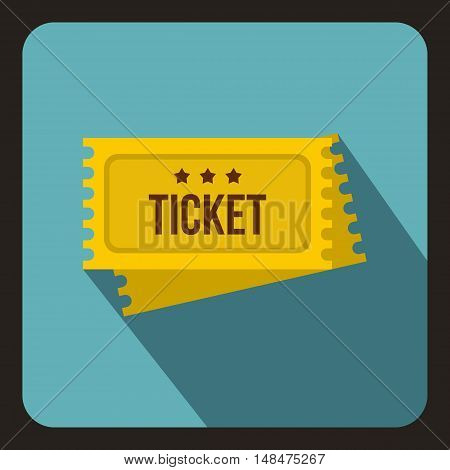 Circus show tickets icon in flat style on a baby blue background vector illustration