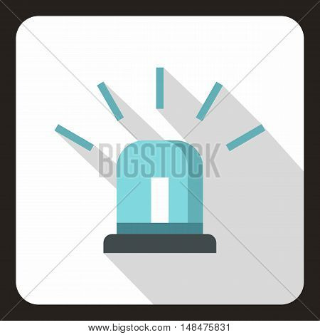 Blue special police flasher icon in flat style on a white background vector illustration