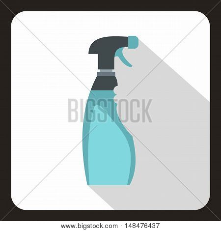 Blue sprayer icon in flat style on a white background vector illustration