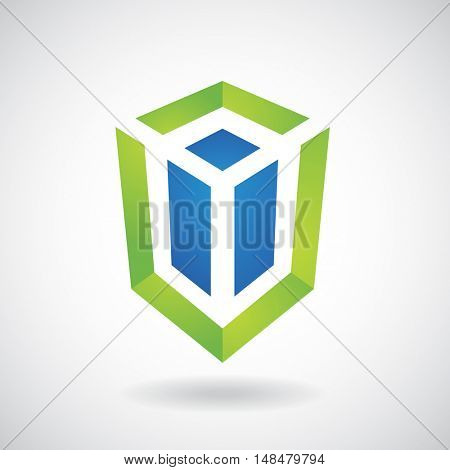 Design Concept of a Shape and Icon of a Rectangular Cube
