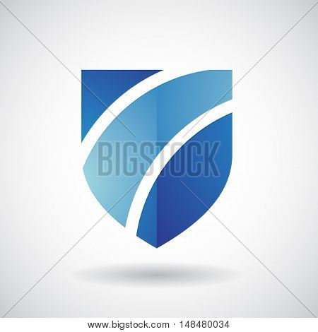 Design Concept of a Shape and Icon of a Striped Shield