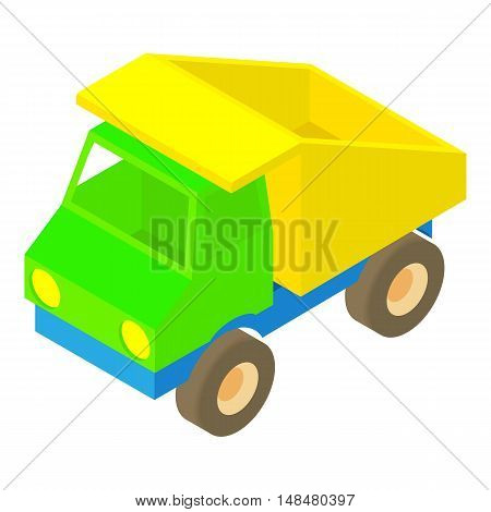 Toy truck icon in cartoon style isolated on white background vector illustration