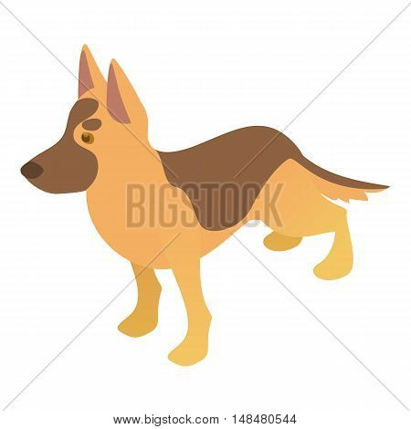 Shepherd dog icon in cartoon style isolated on white background. Animal symbol vector illustration