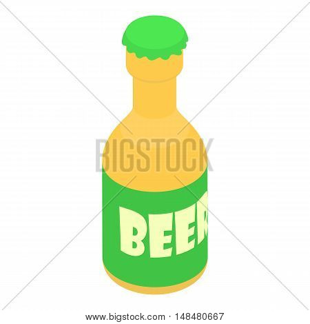 Bottle of beer icon in cartoon style isolated on white background. Drink symbol vector illustration