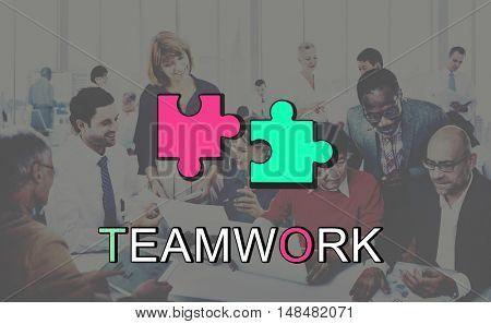 Teamwork Alliance Collaboration Connection Concept