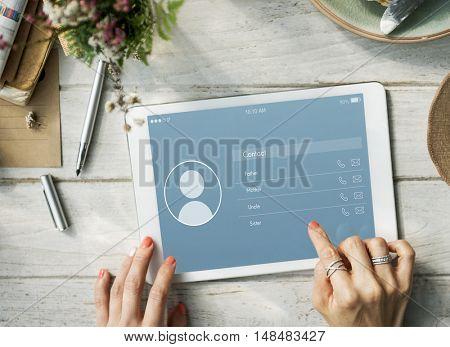 Application Contact Communication Connection Concept