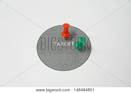 isolated business concept of hit the target