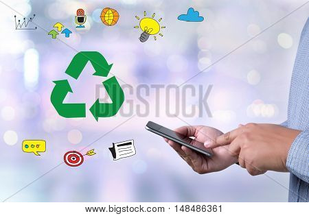 Recycle Green Bio Eco Forest Saving Environment Harmony Ecosystem Conservation Csr Esg Campaign