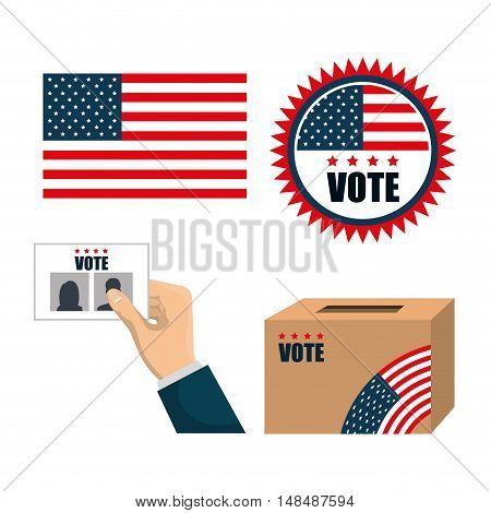 set concept election presidential isolated graphic vector illustration eps 10