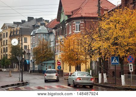 Autumn in Zelenogradsk (Cranz) the famous seaside resort on the Baltic Sea. Russia.