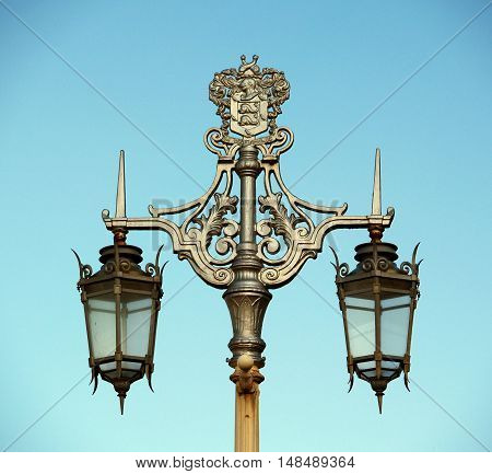 Decorative copy of old street lamp in Brighton