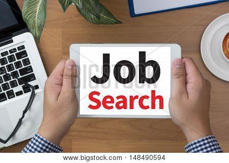 Businessman Internet Online Job Search