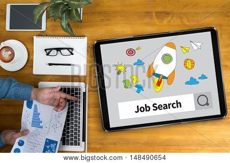 Businessman Internet Online Job Search
