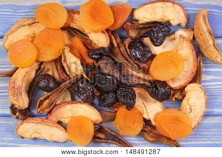 Ingredients For Preparing Compote Of Dried Fruits, Healthy Nutrition