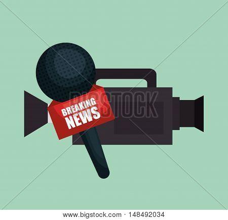 camera microphone equipment news job graphic vector illustration eps 10