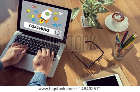 Coaching (guide Instructor Leader Manager Tutor )