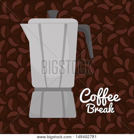 coffee maker vintage graphic vector illlustration eps 10