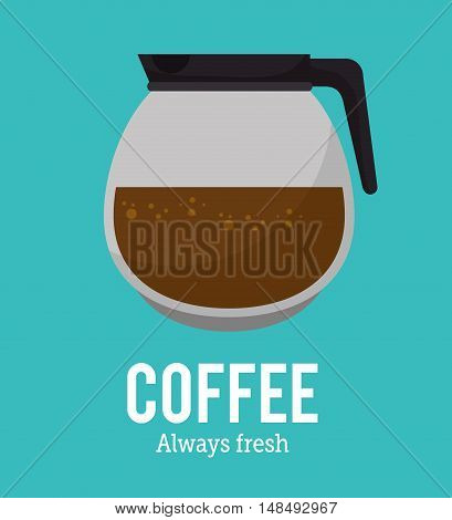 coffee maker glass graphic vector illustration eps 10