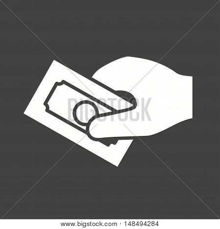 Coin, money, cash icon vector image. Can also be used for hand actions. Suitable for use on web apps, mobile apps and print media.