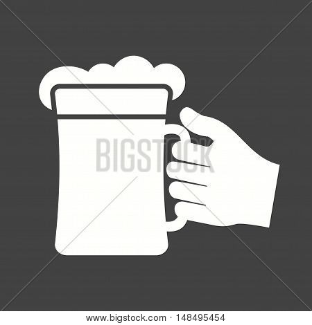 Beer, glass, wine icon vector image. Can also be used for hand actions. Suitable for use on web apps, mobile apps and print media.