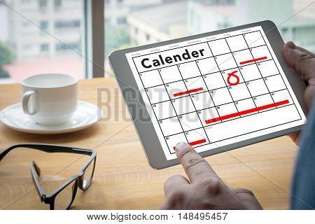 Calender Planner Organization Management Remind businessman working