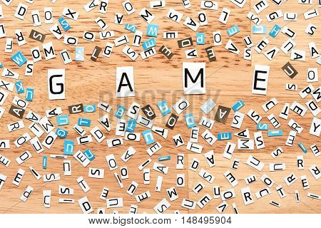 Sport Word From Cut Out Letters