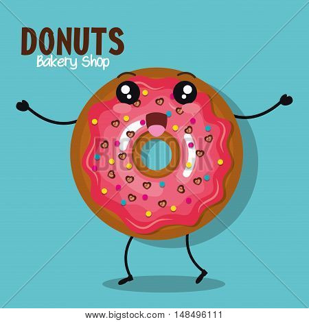 icon donut icing pink graphic vector illustration eps 10