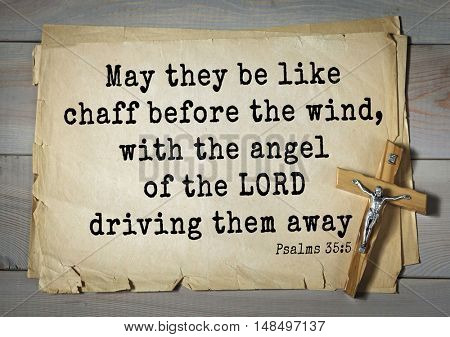 TOP-1000.  Bible verses from Psalms.May they be like chaff before the wind, with the angel of the LORD driving them away