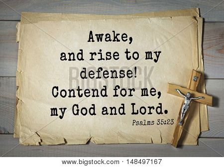 TOP-1000.  Bible verses from Psalms. Awake, and rise to my defense! Contend for me, my God and Lord.