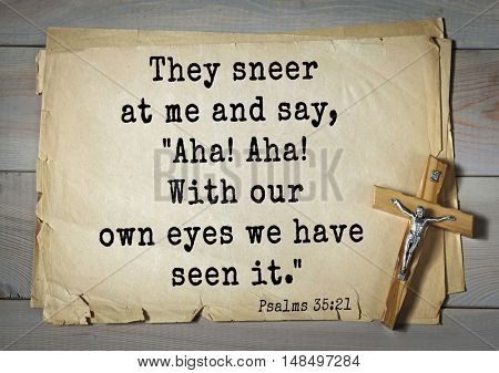 TOP-1000.  Bible verses from Psalms. They sneer at me and say,