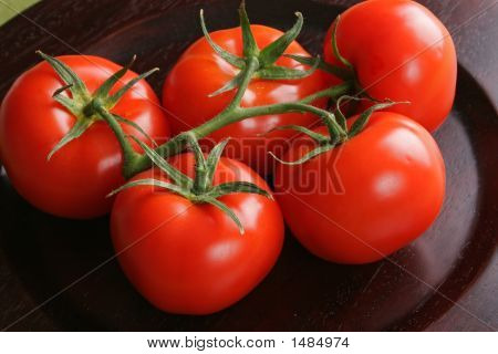 Tomatos In Bunch