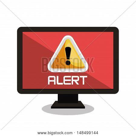 screen system alert virus design vector illustration eps 10