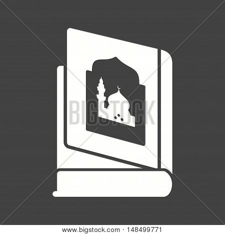 Religious, books, old icon vector image. Can also be used for islamic. Suitable for mobile apps, web apps and print media.