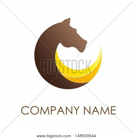 Vector sign horse in motion isolated illustration