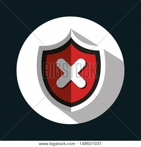button virus protection error isolated vector illustration eps 10