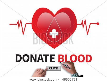 Donate Blood ( Transfusion Medicine Specialist Holding Sign Donate Blood, Red Heart Health Care Prof