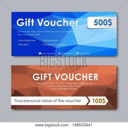 Design Gift Vouchers Polygonal