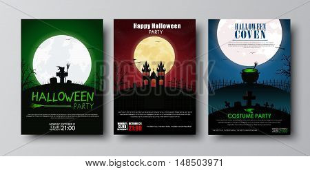 Design Posters Halloween Party.