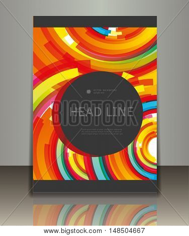Vector business brochure or magazine cover template. Abstract design