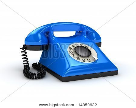 Telephone Over White