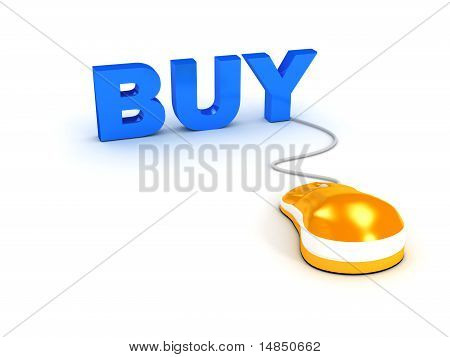 E-shop Concept Over White Background