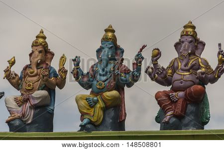 Sculptures of Indian god Lord Ganesh, god of luck and prosperity