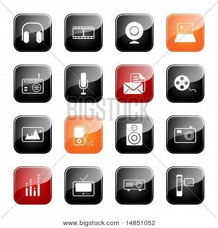 Mass Media Icons - Glossy Series